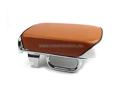 Buddy / siège pour copilote, réplique C50 NT, C50k1 et C50, Streetcub, standard marron / blanc, passepoil noir