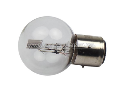 Lampe frontale BA21D, double, 6 volts, 25-25 watts, Dax 3 pieds