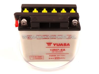 Batterie 12 volts 7 ampères acide, 12N7-4A, Mash Fifty, Yuasa