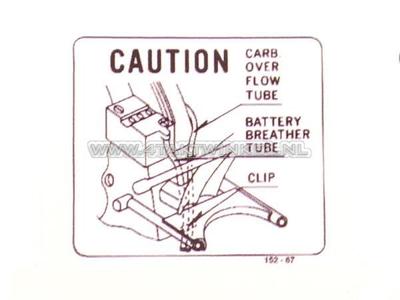 Autocollant CB50 batterie