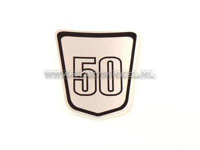 Autocollant emblème Dax sous selle, Skyteam, 50