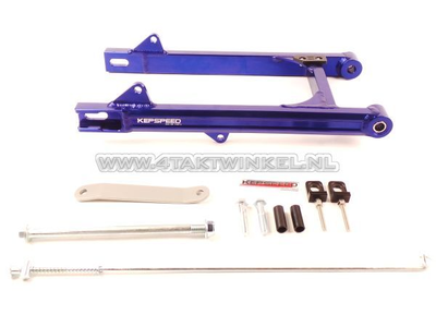 Bras oscillant C50, SS50, CD50 aluminium, Kepspeed, + 6cm, bleu