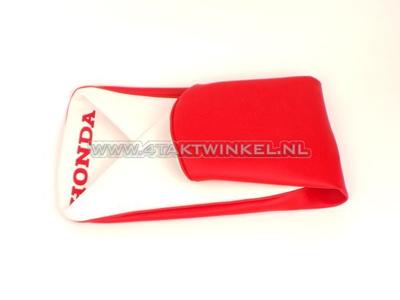 Housse buddy C310 rouge / blanc, imprimé Honda, imitation