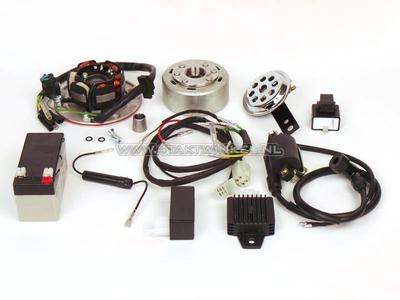 Kit de conversion d'allumage CDI et électricité 12 volts SS50, CD50, C50, C70, ST50, ST70, Dax, volant léger