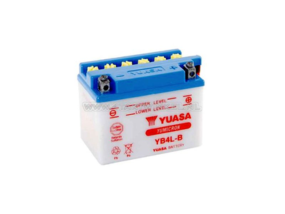 Batterie 12 volts 4 ampères acide, YB4L-B, Yuasa