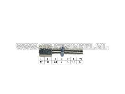 Tendeur de câble, filetage m5 avec écrou de réglage