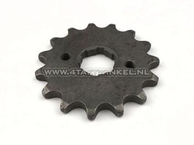 Pignon avant, chaîne 428, axe 20 mm, 15, Ace / Ape 125