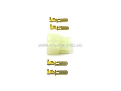 Cosse japonaise, Cosse bloc 6,3 mm 4 pôles mâle