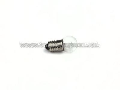 Ampoule E10 raccord à vis, simple, 6 volts, 2 watts
