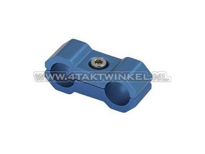 Serre-câble / collier, 6 mm, aluminium, bleu