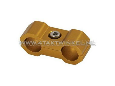 Serre-câble / collier, 6 mm, aluminium, or