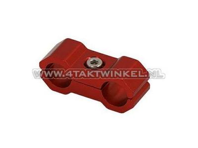 Serre-câble / collier, 6 mm, aluminium, rouge