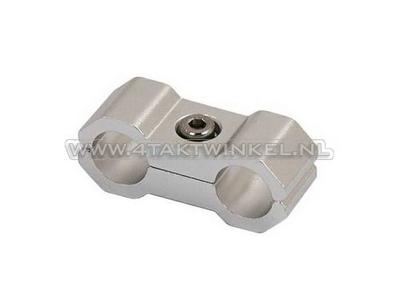 Serre-câble / collier, 6 mm, aluminium, argent