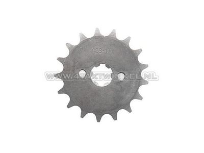 Pignon avant, chaîne 428, axe 17 mm, 17, Mash, AGM, Hanway