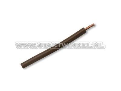 Fil par mètre 0,75 mm2, marron
