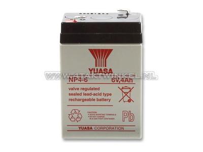 Batterie 6 volts 4 ampères, SS50, Dax, gel, universelle, Yuasa