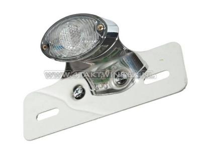 Feu arrière cateye simple, petite, LED blanc