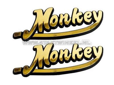 Emblème Monkey, set, or