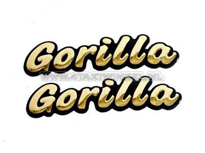 Emblème Gorilla, set, or