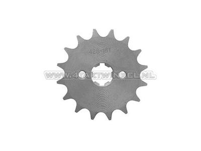 Pignon avant, chaîne 428, axe 17 mm, 16, Mash, AGM, Hanway