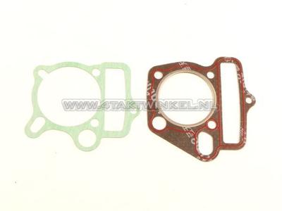 Jeu de joints A, culasse et cylindre, jeu de base: pied et culasse, 53mm 125cc