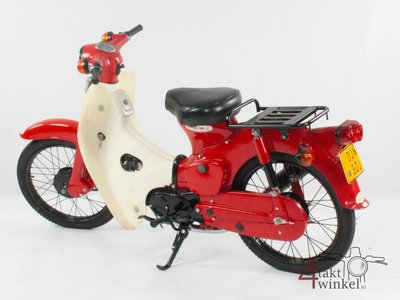 Honda C50 OT Japanese, Red, 3321 km, Fully restored! with papers