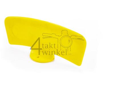 Plaque cyclomoteur jaune, universelle
