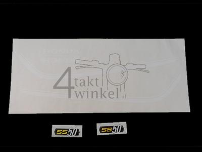 Autocollant SS50 tank striping k1 blanc, cadre, set