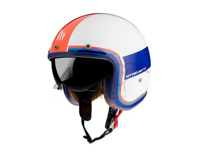 Casque MT, Le Mans Speed, blanc / bleu / rouge, Tailles S à XL