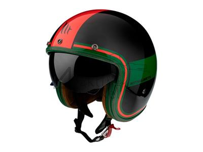 Casque MT, Le Mans Speed, noir/vert/rouge, Tailles S à XL